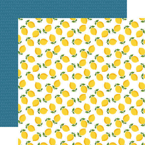 Echo Park - A Slice of Summer Collection - 12 x 12 Double Sided Paper - Lemons