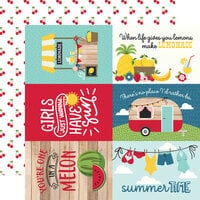 Echo Park - A Slice of Summer Collection - 12 x 12 Double Sided Paper - 6 x 4 Journaling Cards