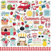 Echo Park - A Slice of Summer Collection - 12 x 12 Cardstock Stickers - Elements