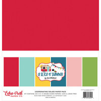 Echo Park - A Slice of Summer Collection - 12 x 12 Paper Pack - Solids