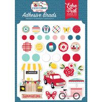Echo Park - A Slice of Summer Collection - Self Adhesive Decorative Brads