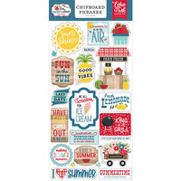 Echo Park - A Slice of Summer Collection - Chipboard Stickers - Phrases