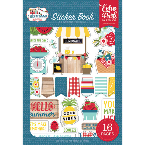 Echo Park - A Slice of Summer Collection - Cardstock Sticker Book
