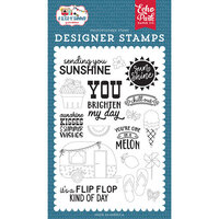 Echo Park - A Slice of Summer Collection - Clear Photopolymer Stamps - Sending Sunshine