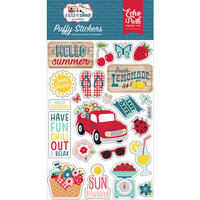 Echo Park - A Slice of Summer Collection - Puffy Stickers