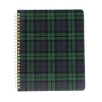 Echo Park - Spiral Notebook - 7 x 8.5 - Black Watch Plaid