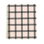 Echo Park - Spiral Notebook - 7 x 8.5 - Pink Tattersall Plaid