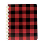 Echo Park - Spiral Notebook - 7 x 8.5 - Red Buffalo Plaid