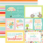Echo Park - Spring Collection - 12 x 12 Double Sided Paper - Journaling Cards
