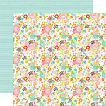 Echo Park - Spring Collection - 12 x 12 Double Sided Paper - Fancy Floral