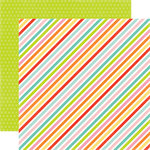 Echo Park - Spring Collection - 12 x 12 Double Sided Paper - Sparkling Stripe