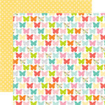 Echo Park - Spring Collection - 12 x 12 Double Sided Paper - Beaming Butterflies