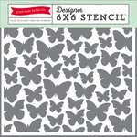 Echo Park - Spring Collection - 6 x 6 Stencil - Butterflies 1