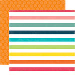 Echo Park - Summer Party Collection - 12 x 12 Double Sided Paper - Sunshine Rays