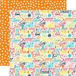Echo Park - Summer Party Collection - 12 x 12 Double Sided Paper - Beach Love