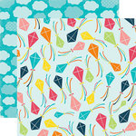 Echo Park - Summer Party Collection - 12 x 12 Double Sided Paper - Kite Flying