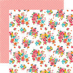 Echo Park - Summer Party Collection - 12 x 12 Double Sided Paper - Blazing Floral