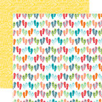 Echo Park - Summer Party Collection - 12 x 12 Double Sided Paper - Flip Flops