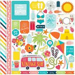 Echo Park - Summer Party Collection - 12 x 12 Cardstock Stickers - Elements