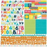 Echo Park - Summer Party Collection - 12 x 12 Cardstock Stickers - Alphabet