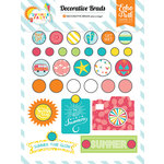 Echo Park - Summer Party Collection - Decorative Brads