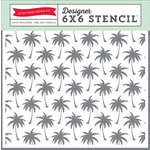 Echo Park - Summer Party Collection - 6 x 6 Stencil - Palm Trees