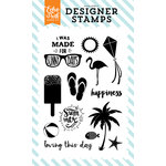Echo Park - Summer Party Collection - Clear Acrylic Stamps - Sunny Days