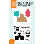 Echo Park - Summer Party Collection - Designer Die and Clear Acrylic Stamp Set - Summer Sunshine