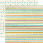 Echo Park - Splash Collection - 12 x 12 Double Sided Paper - Mini Stripes