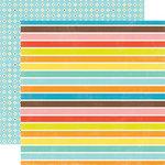 Echo Park - Splash Collection - 12 x 12 Double Sided Paper - Big Stripes