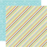 Echo Park - Splash Collection - 12 x 12 Double Sided Paper - Diagonal Stripes