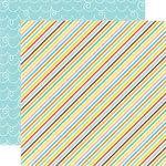 Echo Park - Splash Collection - 12 x 12 Double Sided Paper - Diagonal Stripes