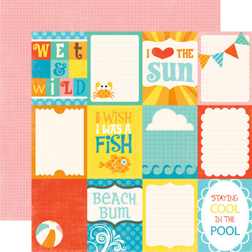 Echo Park - Splash Collection - 12 x 12 Double Sided Paper - Journaling