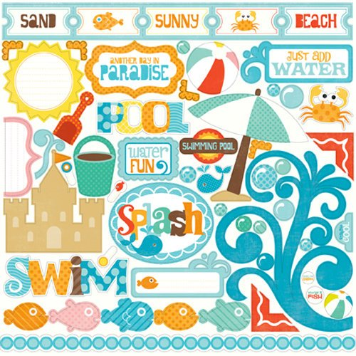 Echo Park - Splash Collection - 12 x 12 Cardstock Stickers - Elements
