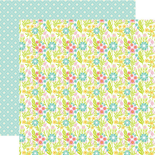 Echo Park - Spring Fling Collection - 12 x 12 Double Sided Paper - Spring Bloom