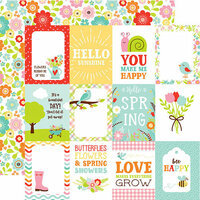 Echo Park - Spring Fling Collection - 12 x 12 Double Sided Paper - 3 x 4 Journaling Cards