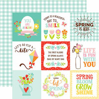 Echo Park - Spring Fling Collection - 12 x 12 Double Sided Paper - 4 x 4 Journaling Cards