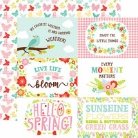 Echo Park - Spring Fling Collection - 12 x 12 Double Sided Paper - 4 x 6 Journaling Cards