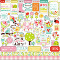 Echo Park - Spring Fling Collection - 12 x 12 Cardstock Stickers - Elements