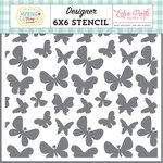 Echo Park - Spring Fling Collection - 6 x 6 Stencil - Bouncing Butterflies