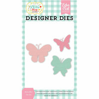 Echo Park - Spring Fling Collection - Designer Dies - Butterflies