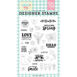 Echo Park - Spring Fling Collection - Clear Photopolymer Stamps - Spring is Here