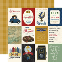 Echo Park - Scenic Route Collection - 12 x 12 Double Sided Paper - 3 x 4 Journaling Cards