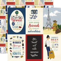 Echo Park - Scenic Route Collection - 12 x 12 Double Sided Paper - 4 x 6 Journaling Cards