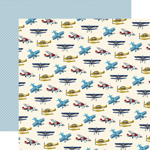 Echo Park - Scenic Route Collection - 12 x 12 Double Sided Paper - Airplanes