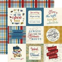 Echo Park - Scenic Route Collection - 12 x 12 Double Sided Paper - 4 x 4 Journaling Cards