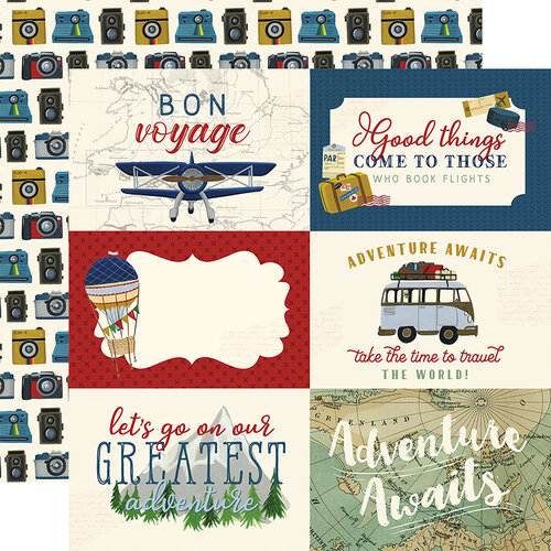 Echo Park - Scenic Route Collection - 12 x 12 Double Sided Paper - 6 x 4 Journaling Cards