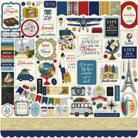 Echo Park - Scenic Route Collection - 12 x 12 Cardstock Stickers - Element