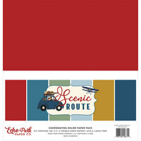 Echo Park - Scenic Route Collection - 12 x 12 Solids Paper Pack
