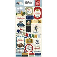 Echo Park - Scenic Route Collection - Chipboard Stickers - Phrases